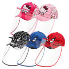 Kids Spiderman Baseball Cap Face Shield Hat Safety Cover Hat Anti Spitting USA