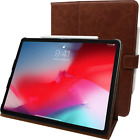 "Snugg iPad Pro 12.9"" (2020-4th Gen) Leather Case, Flip Stand Cover - Riverside B"