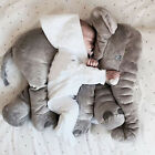 Baby Kids Anti Roll Elephant Pillow Cotton Safe Soft Sleep Bedding Cushion