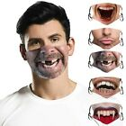 5 x Men Women Reusable Washable Funny Printed Face Protective 3D Mouth Face Mask