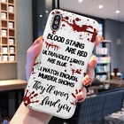 Halloween Gift Blood Stains Murder Phone Case iPhone 11 Pro X Xr Xs Max 8 7 6