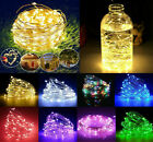 30-100 LED Lights Xmas Outdoor Fairy Star Cork String Lights Battery Operated