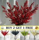 5 Branch Berry Artificial Flower Christmas Fake Flower New Year Home Decor A8 Uk