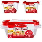 Rubbermaid Take Alongs Round Or Square Plastic Storage Bowls with Lids
