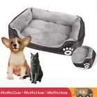 Dog Pet Bed Warm Basket Bed Deluxe Soft Washable Cushion with Velveteen Lining