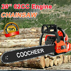 COOCHEER 62CC 20 Gas Chainsaw Handed Petrol Chain Woodcutting 2 Cycle 4HP B t 04