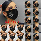 Women's Crystal Glitter Rhinestone Sparkle Bling Reusable Face Mask Covering NEW