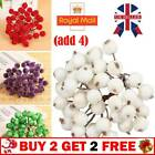 40x Mini Christmas Foam Frosted Fruit Artificial Holly Berry Flower Home Decor T