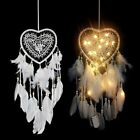 Wall Hanging Love Heart Dream Catcher Feather Night Light Home Decoration Gift