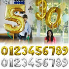 """40"""" inch Giant Number Foil Balloons Birthday Party Balloon Gold Silver Rose Gold"""