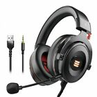 Gaming Headset Gamer 7.1 Surround Sound Wired Headphones LED USB 3.5mm Earphones