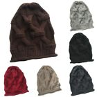 Fashion Unisex Winter Knitted Wool Warm Cap Hip-hop Style Oversized Casual Hat