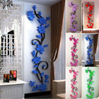 Diy Self-adhesive Rose Flower Wall Sticker Removable Decal Home Room Decorations