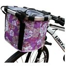 Bike Bicycle Folding Basket Small Pet Cat Dog Carrier Front Bike Handlebar Bag