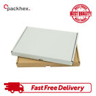 CARDBOARD BOXES C6 SHIPPING POSTAL ROYAL MAIL LARGE LETTER DIE CUT WHITE & BROWN