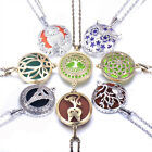 Vintage Essential Oil Diffuser Necklace Tree Of Life Aromatherapy Locket Pendant