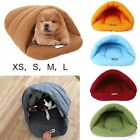 Pet Dog Basket Igloo Kennel Beds Cave Shape Warm Cat Sofa Sleeping Bag Mats