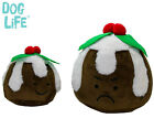 DOG LIFE CHRISTMAS FESTIVE PLUSH SOFTY PUDDING DOG PUPPY SOFT PLUSH TOY 2 SIZES