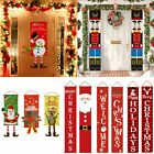 Merry Christmas Porch Banner Hanging Sign Home Xmas Party Decor Door Ornaments Z