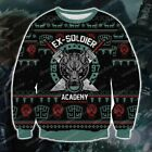 Final-Fantasy Ex Soldier 3D Print Ugly Christmas Sweater  S-5XL