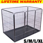 Dog Puppy Cage Pet Playpen Whelping Box Metal Run Enclosure Floor Heavy Duty NEW