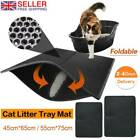 CAT LITTER CATCHER TRAY MAT leather TWO LAYER KITTEN SCATTER CONTROL PAW CLEAN.