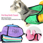Water Absorbent Soft Microfiber Quick Drying Cats Home Pet Dog Bath Towel Travel