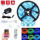 5M/10M 16.4ft 32.8ft RGB 5050 Smart LED Strip Light SMD Bluetooth Music + Remote