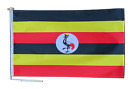 Uganda Flag With Rope and Toggle - Various Sizes