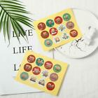 1-24 Number Stickers Christmas Sealing Adhesive Label Paper Stickers Xmas Us