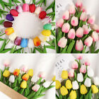 10 Artificial Tulip Flowers False Fake Bouquet Real Touch Home Wedding Decor Uk