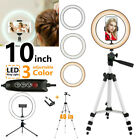 10'' Led Selfie Ring Light with Tripod Stand Phone Holder Kit for Live Makeup