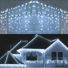 5M Waterproof Outdoor Christmas Light Droop 0406m Led Curtain Icicle String