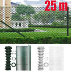 Chain Link Fence with Posts Garden Fencing Galvanised Steel Wire 0.8- 1.5 x25 m