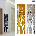 3d Tree Mirror Wall Sticker Removable Diy Art Decal Home Decor Mural Acrylic Uk