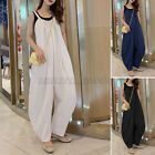 Womens Strappy Jumpsuits Culottes Playsuits Casual Beach Overalls Wide Leg Pants