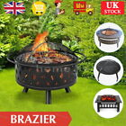 Outdoor Garden Large Firepit Metal Stove Brazier Patio Heater/BBQ/Ice Pit 3 in 1
