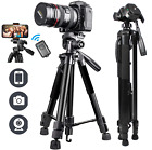 63'' DSLR Camera Tripod Stand Holder Mount, Phone Tripod with Bluetooth Remote