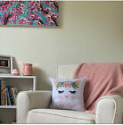 Personalised Cat Pillow cover Cat Face Pillowcase Girls Decoration Bedroom