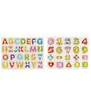 Wooden Puzzle Board Alphabet and Number Wooden Puzzle for Preschool Boys