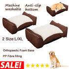 Deluxe Orthopaedic Soft Dog Pet Warm Sofa Bed Cushion Chair Large Luxury Puppy