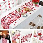 Heart Pattern Table Runner Placemat Wedding Party Home Desk Cloth Decoration