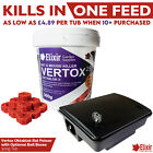 Elixir Gardens Vertox Rat & Mouse Poison | One Feed Kills | Optional Bait Boxes
