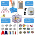 Beads Accessories Kit Tool DIY Earrings Necklace Jewelry Making with Storage Box