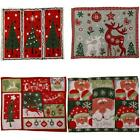 Christmas Dining Placemat Cover Coaster Table Runner Party Santa Home Decor O5j5