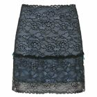 Patchwork Lace Gothic Woman Skirt Aesthetic Vintage Goth Mini Skirts Punk Style