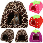 Soft Pet Cat Kitten Dog Puppy Fleece Igloo Bed Warm House Tunnel Comfy Pod Cave