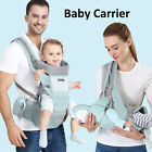 6 in 1 Newborn Infant Baby Carrier Breathable Ergonomic Adjustable Backpack US
