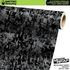 Metro Wrap Hex Electric White Camouflage Vinyl Film