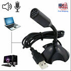 Desktop Mini Condenser Microphone USB Computer Mic Recording For Laptop PC